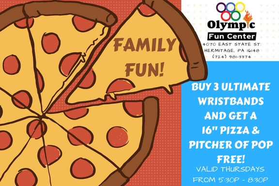 Family Fun Night, Family Discount, Free Pizza, Family Deal